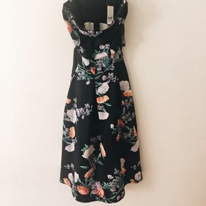 Strapless New York and Company Floral Dress